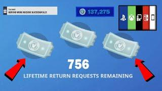 How To Get MORE REFUNDS TICKET in Fortnite Chapter 2 Season 4 (EASY FORTNITE REFUND TICKET TUTORIAL)