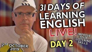 31 Days of Learning English - Day 2 - It's time to improve your English - Meal Words / Unboxing