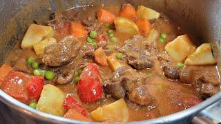 Calderetang Baka | Filipino Beef Stew | with Peanut Butter and Cheese?
