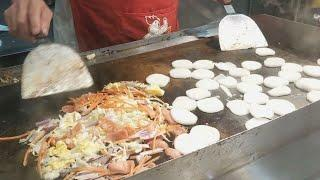 Teppanyaki Style Fried Rice Cake - Chinese Street Food