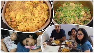 Corona Quarantine | Family All Day at Home Vlog | One Pot Tasty Soya Pulao Recipe | hindi vlog