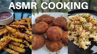 3 Easy Dishes - Cooking Indian Food | Fast ASMR cooking no talking | Satisfying ASMR Cooking Sounds