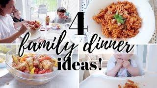4 FAMILY DINNER IDEAS | MEAL PLANNING RECIPES