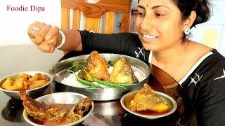 Eating Fish Head Curry With Rice || Indian Food Eating Show || Foodie Dipa