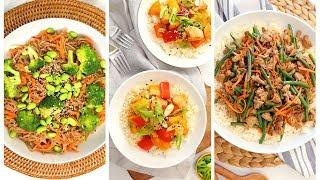 EASY Stir Fry Recipes | 3 Quick + Healthy Weeknight Dinner Recipes