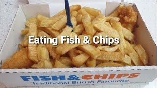 Viewers Video -  ASMR Eating Cod Fish And Chips Traditional English Food | British Food