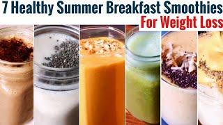7 Healthy Summer Breakfast Smoothie Recipe | Quick Easy Weight loss Indian Breakfast Idea | In Hindi