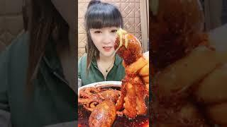 Cooking Jungle ASMR Spicy Food So Delicious And Beautity Girl Eating #Short 149