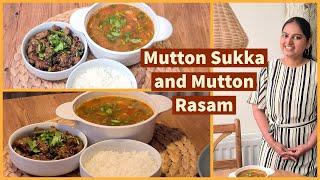 Mutton Sukka and Mutton Rasam recipe in Tamil with English subs | healthy Mutton recipes/Mutton soup