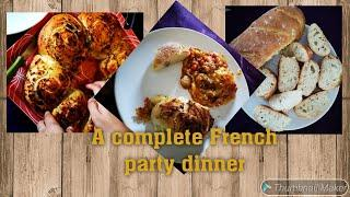 Lasagna recipe/Party dinner/ french dinner/ Minced meat lasagna/ French food/ How to make Baguette
