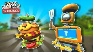 Making Epic Meals for Warehouse Battles with the Cookbot! - Scrap Mechanic Survival Mode #10