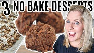 3 of the BEST Dump and Go NO BAKE Desserts