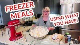 QUARANTINE COOKING ~ making EMERGENCY FREEZER MEALS out of LEFTOVERS! (+ Chatty, as always