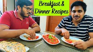 Breakfast & Dinner menu idea | How to make easy Wheat Butter Naan & Gobi Manchurian | Salu Kitchen