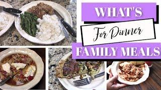 WHAT'S FOR DINNER | REAL FAMILY MEALS | USING FREEZER MEALS | EASY DINNERS | Bits and Beitz