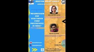 Ambedkar Lecture Series: Brahmanism and vegetarian food preferences in India