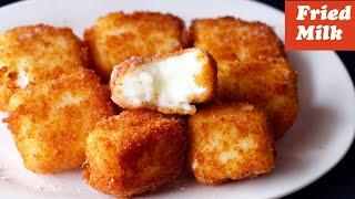 Melt in your Mouth Fried Milk Recipe, Eggless & Without Oven, Spanish Leche Frita Recipe, Dessert