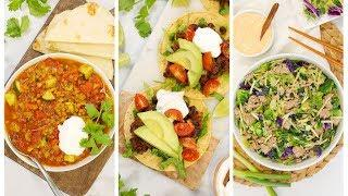 3 Healthy Budget Friendly Recipes | One Pot Dinners in 20 Minutes or Less
