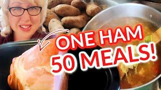 Make 50 MEALS From ONE HAM | EASY Large Family MEALS on a BUDGET | What's for Dinner!
