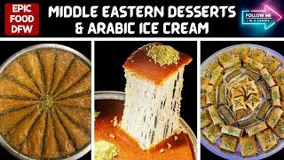 We tried Middle Eastern desserts at Bigdash in Dallas!!  Turkish, Palestinian, Syrian!