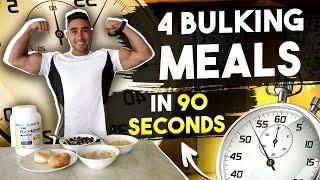 WORLD'S FASTEST MEAL PREP | 4 Muscle Gain Meals in Under 90 Seconds