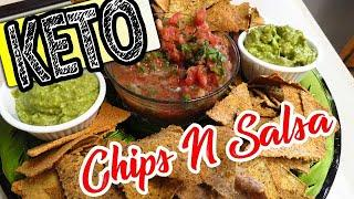 AMAZING Keto Chips and Salsa | Keto Super Bowl Party food Ideas 2020 | Snacks Appetizers