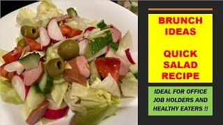 HEALTHY SALAD RECIPE BY ASMA || BRUNCH IDEA || WITH ENGLISH SUBS