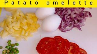 Patato omelette - Easy and quick omelette recipe - Breakfast special