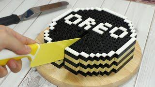 Lego Oreo Cheesecake - Lego In Real Life #10 / Stop Motion Cooking & ASMR Funny Video 4K