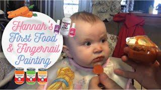 Baby's First Food and Fingernail Painting | Piggy Paint Nail Polish