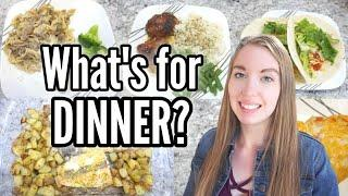 WHAT'S FOR DINNER? | EASY DINNER IDEAS | SIMPLE DINNER RECIPES | FAMILY MEALS | LivingThatMamaLife