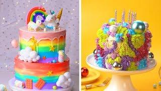 Best Colorful Cake Decorating Ideas | Making Buttercream Cake Recipes | Delicious Cakes