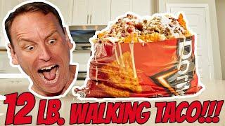 LARGEST WALKING TACO ATTEMPT | 12LBS (5.4kg) | JOEY CHESTNUT EATS