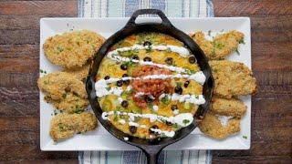 Tortilla Chip-Crusted Chicken With Queso Fundido •Tasty