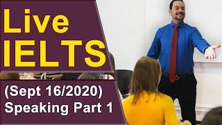 IELTS Live - Speaking Part 1 – Awesome Answers for Band 9