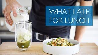 WHAT I EAT FOR LUNCH | YOUTUBE CHEF WHAT I ATE | VEGAN CHOPPED SALAD + MATCHA LATTE RECIPE