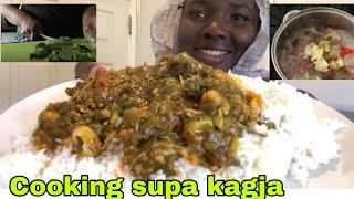 How to make Gambian okro soup, cooking +recipes, English subtitles