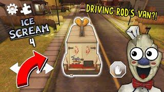 PLAYING AND DRIVING ROD'S VAN?! - Ice Scream 3 Mod Menu.