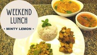 Simple Weekend Lunch | Vegetarian | Tamil | English subtitles | step by step recipe