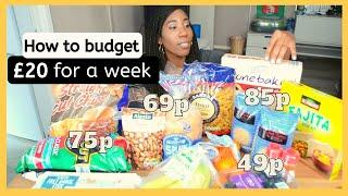 How to LIVE ON £20 A WEEK in London | Budget and Shop