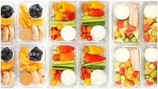 Healthy Meal Prep Snack Boxes | Back to School + Quick + Easy
