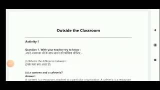"Ques. & Ans ""Outside the class room"" class 7 English rajasthan board"
