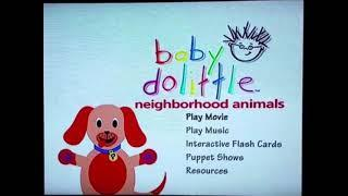 Baby dolittle neighborhood animals dvd menu