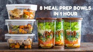 8 Healthy Meal Prep Bowls | Quick & Easy Meal Prep Recipes