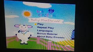 Baby Einstein Baby MacDonald Late 2004 VHS Menu Walkthrough