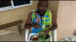 Chief Imo Comedy || traditional food at home || leaf and power . when last did you take this?
