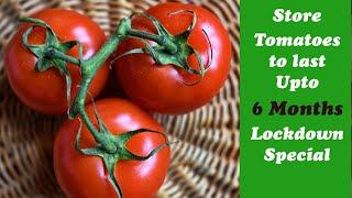 Best way to store TOMATOES for months,4 Easy Tomato Preservation Tips,make & store TOMATO PUREE