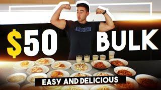 $50 For a Week of Bulking - GOURMET MEAL PREP on a Budget with Zac Perna