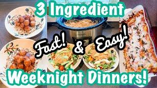 3 INGREDIENT SIMPLE FAMILY DINNERS // BUDGET FRIENDLY 3 INGREDIENT RECIPES FOR DINNER  // EASY MEALS