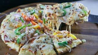 Omelet Pizza Recipe | BreakFast Pizza | How to make Pizza  with Bread